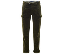 Cordhose 'Tapered Fit' oliv