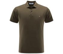 Jersey-Poloshirt oliv