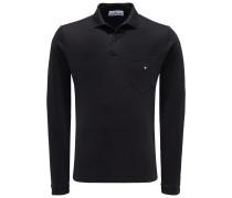 Longsleeve-Poloshirt schwarz