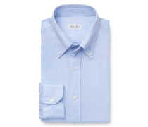 Casual Hemd Button-Down-Kragen hellblau