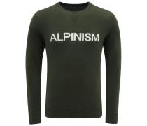 Cashmere R-Neck Pullover 'Alpinism' dunkelgrün