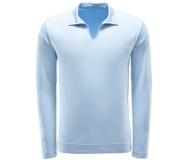 Longsleeve-Poloshirt 'Peter' hellblau