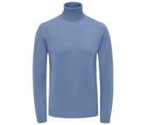 Cashmere Rollkragenpullover blau