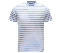 R-Neck T-Shirt 'Gary' graublau/weiß