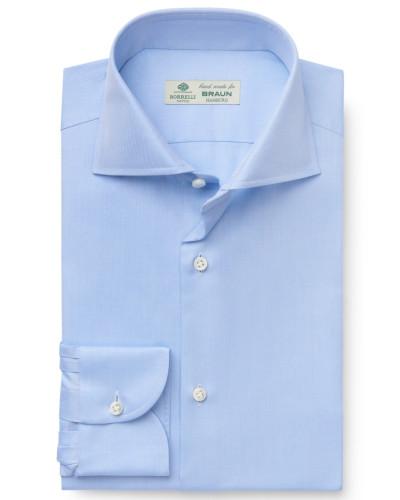Business Hemd 'Nando' Haifisch-Kragen hellblau