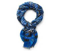 Leinenschal blau