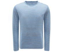 R-Neck Longsleeve rauchblau/weiß