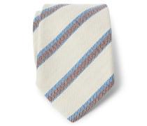 Krawatte creme/braun/blau