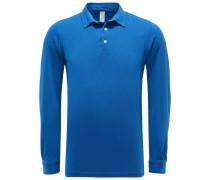 Longsleeve-Poloshirt 'Pietro' blau