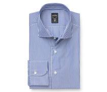 Business Hemd 'Mivara Tailor Fit' Haifisch-Kragen dunkelblau/weiß