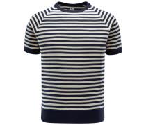 R-Neck Kurzarm-Sweatshirt 'Aagamennone' navy