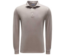 Longsleeve Poloshirt 'Zero' beige