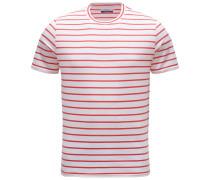 R-Neck T-Shirt 'Gary' rot/weiß