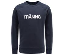 R-Neck Sweatshirt 'Träning' navy