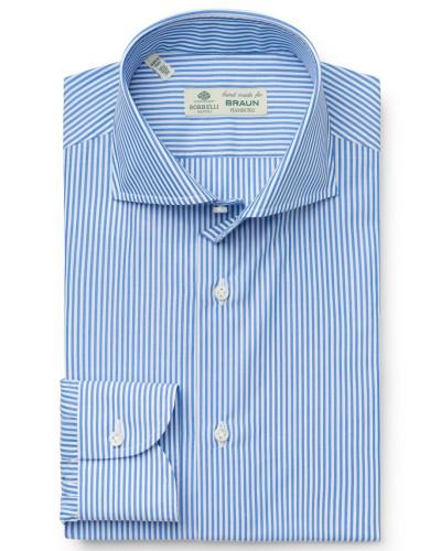 Business Hemd 'Nando' Haifisch-Kragen blau