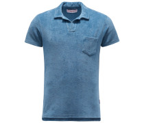 Frottee-Poloshirt 'Terry' graublau