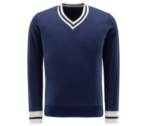 V-Neck Sweatshirt 'Lero' navy