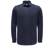 Casual Hemd 'Tailor Fit' Haifisch-Kragen navy