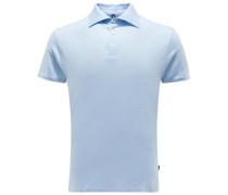 Leinen-Poloshirt hellblau
