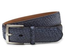 Gürtel Pythonleder graublau