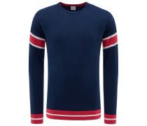 R-Neck Pullover navy/rot