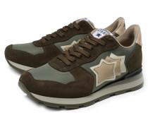Sneaker 'Antares' graugrün/dunkelbraun