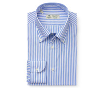 Business Hemd 'Gable' Button-Down-Kragen blau/weiß