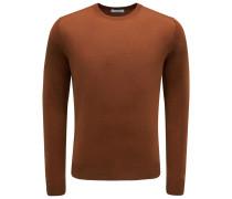 R-Neck Pullover rostbraun