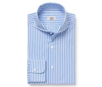 Business Hemd Haifisch-Kragen hellblau/weiß