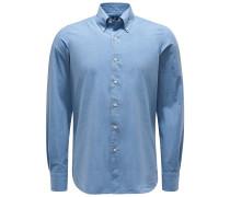 Casual Hemd 'Leonardo Gaeta' Button-Down-Kragen rauchblau