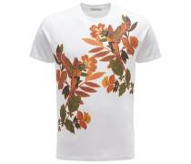 R-Neck T-Shirt weiß/orange