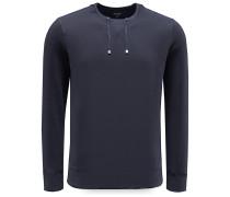 R-Neck Sweatshirt 'Drawstring' navy