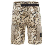 Cargo-Shorts 'Alligator Camo Light Cotton-Nylon Tela' khaki