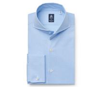Business Hemd 'Sergio Napoli' Haifisch-Kragen hellblau