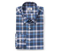 Casual Hemd Button-Down-Kragen blau
