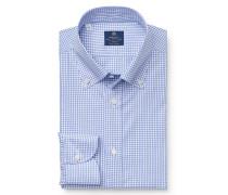 Casual Hemd 'Stefano' Button-Down-Kragen dunkelblau/weiß