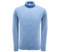 Cashmere Rollkragenpullover hellblau