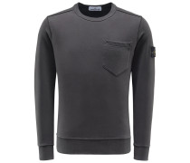 R-Neck Sweatshirt anthrazit