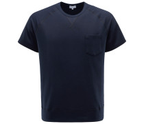 R-Neck Kurzarm-Sweatshirt navy