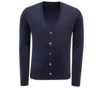 Merino Cardigan dark navy