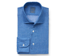 Casual Hemd schmaler Kragen graublau