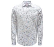 Casual Hemd Kent-Kragen weiß