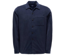 Cord-Overshirt navy