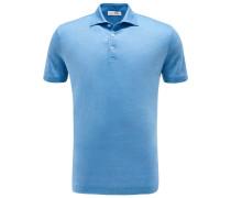 Jersey-Poloshirt graublau