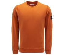 Sweatshirt mit Rundhals orange