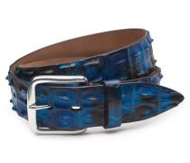 Gürtel Alligatorleder blau