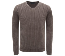 Cashmere V-Neck Pullover 'Janis' graubraun