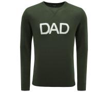 Cashmere R-Neck Pullover 'Dad' dunkelgrün