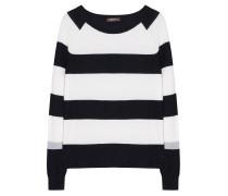 Pullover Streifen Blau Weiß Grau