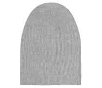 Kaschmir Mütze Hell Melange